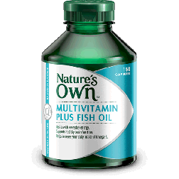 Nature's Own MultiVitamin Plus Omega 3 Fish Oil x 150 Caps