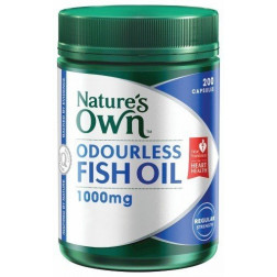 Nature's Own Odourless Fish Oil 1000mg 200 Capsules