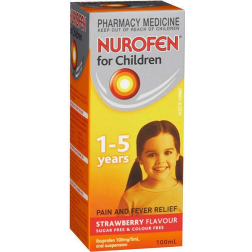 Nurofen Children 1-5 Years Strawberry Flavour 100Ml