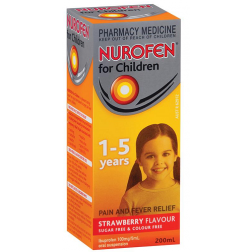 Nurofen Children 1-5 Years Strawberry Flavour 200Ml
