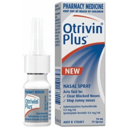 Otrivin Plus Decongestant Nasal Spray 10ml