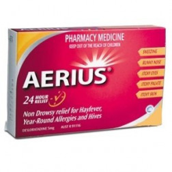 Aerius 5Mg For 24 Hour Allergy Relief X10