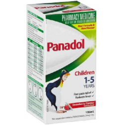 Panadol Children 1-5 Years Strawberry 100mL