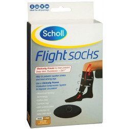Scholl Flight Socks Unisex Black M9-12