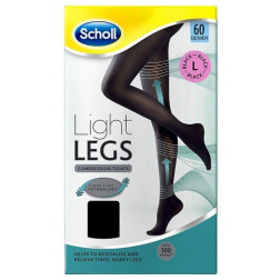 Scholl Light Legs Compression Tights 60 Denier Black - Large