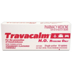Travacalm H.O. 10 Strawberry Flavoured Tablets