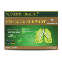 Wealthy Health PM- Lung Support 60 Tablets