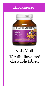 Blackmores Kids Multi Vanilla Flavoured Chewable Tablets