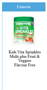 Cenovis Kids Vita Sprinkles Multivitamin Plus Fruit and Veggies Flavour Free Sprinkle Powder