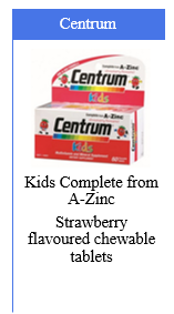 Centrum Kids Complete from A-Zinc Strawberry Flavoured Chewable Tablets