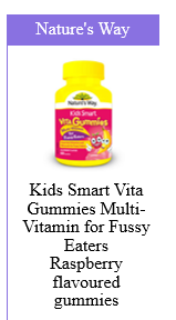 Nature's Way Kids Smart Vita Gummies Multivitamin for Fussy Eaters Raspberry Flavoured Gummies