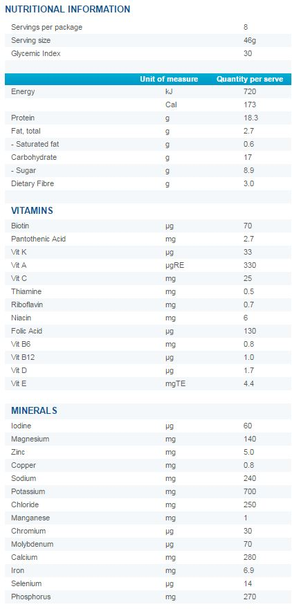 Optifast VLCD Chocolate Dessert Nutritional Information
