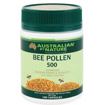 Australian by Nature Bee Pollen 500mg 180 Capsules