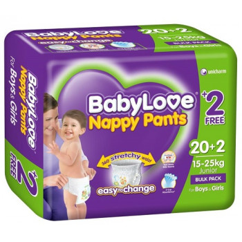 BabyLove Nappy Pants Junior Bulk Pack 22