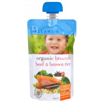 Bellamy's Organic Broccoli Beef & Rice 110g