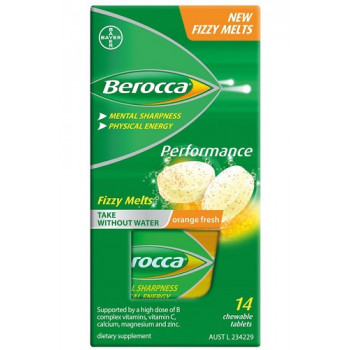 Berocca Performance Fizzy Melts 14 Orange Fresh
