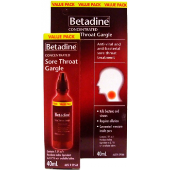 Betadine Concentrated Sore Throat Gargle 40mL