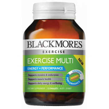 Blackmores Exercise Multi 72 Tablets