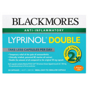 Blackmores Lyprinol Double Strength x30 Capsules