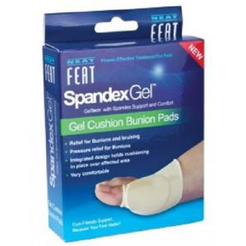Neat Feat Spandex Gel Cushion Bunion Pads Large