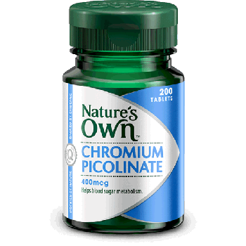 Nature's Own Chromium Picolinate 400mcg Tablets x200