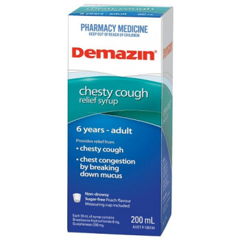 Demazin Chesty Cough Syrup 200ml