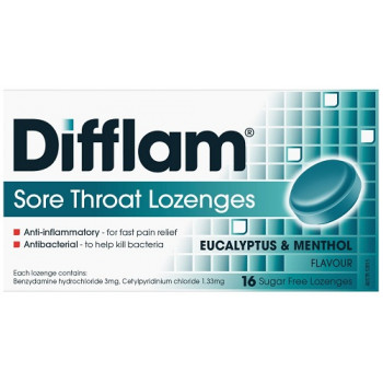 Difflam Sore Throat Lozenges Menthol/Eucalyptus 16