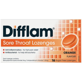 Difflam Sore Throat Lozenges Orange 16