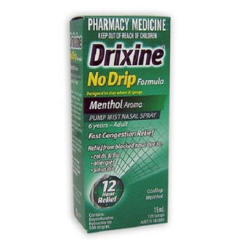 Drixine No Drip Formula Menthol Nasal Spray 15ml