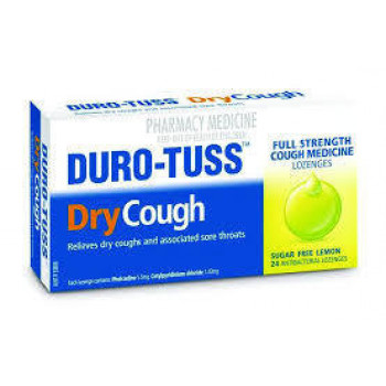 Duro-Tuss Dry Cough Lozenges Lemon Flavour 24