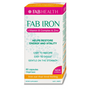 Fab.Iron+B Complex and Zinc 60 Capsules
