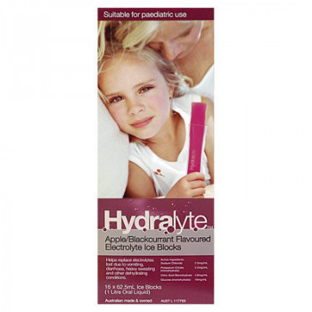 Hydralyte Ice Blocks Apple and Blackcurrant 16 Pack