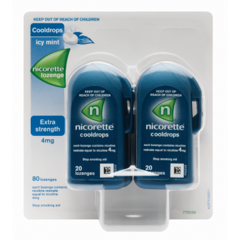 Nicorette Cooldrops 4mg 80 Lozenges