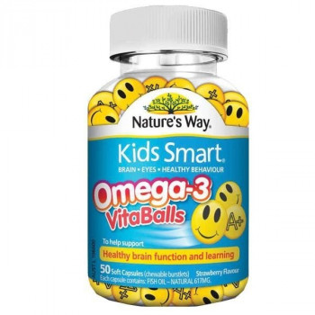 Nature's Way Kids Smart Omega-3 Vita Balls X 50 Caps