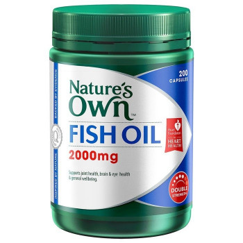 Nature's Own Odourless Fish Oil Double Strength 2000mg 200Caps