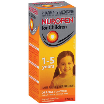 Nurofen Children 1-5 Years Orange Flavour 200Ml