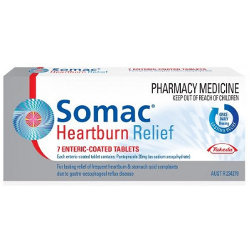 Somac Heartburn Relief 7 Tablets