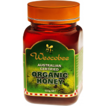 Wescobee Australian Certified Organic Honey 500g