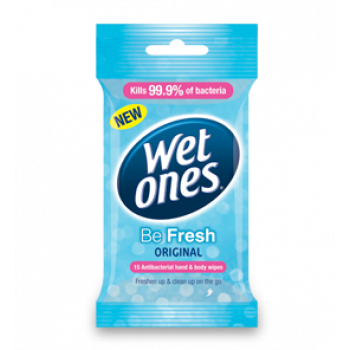 Wet Ones Antibacterial Be Fresh Travel Pack 15