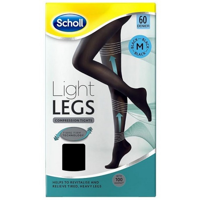 scholl light legs compression tights 60 denier black. Black Bedroom Furniture Sets. Home Design Ideas