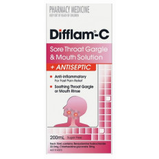 Difflam-C Sore Throat Gargle and Mouth Solution 200ml