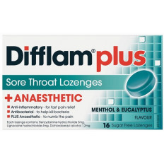 Difflam Plus Sore Throat Lozenges Menthol/Eucalyptus 16