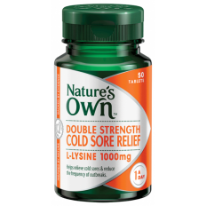 Nature's Own Double Strength Cold Sore Relief 50 Tabs