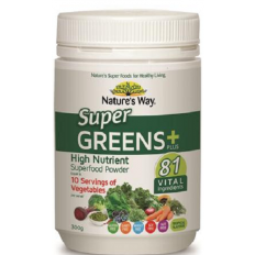 Nature's Way Super Greens Plus Powder 300g