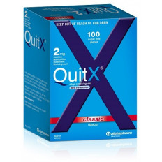 QuitX 2mg Classic Flavour 100 Nicotine Chewing Gum
