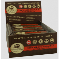 Simply Raw Chocolate Brownie Raw Superfood Bar 20 x 50g