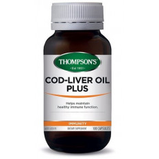 Thompsons Cod Liver Oil Plus 100 capsules