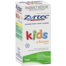 Zyrtec Children Oral Solution Banana Flavour 1Mg/Ml  75Ml