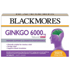 Blackmores Ginkgo 6000mg 30 Tablets (Tebonin)
