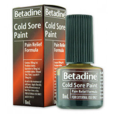 Betadine Cold Sore Paint - Pain Relief Formula 8mL